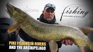 getlinkyoutube.com-Fishing in the Middle of Sweden - Pike Fishing in Rivers and the Archipelago | Kanalgratis.se