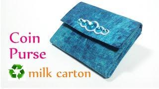 getlinkyoutube.com-DIY crafts: COIN PURSE recycle milk carton - Innova Crafts
