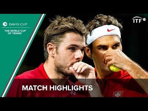 Highlights: Benneteau/Gasquet (FRA) v Federer/Wawrinka (SUI)