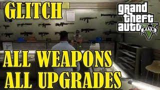 getlinkyoutube.com-GTA 5 - *GLITCH* All Weapons & Upgrades For FREE!