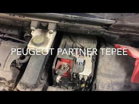 Замена аккумулятора на Peugeot Partner Teppee
