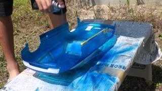 getlinkyoutube.com-RCボディ製作 Part1 【塗装】PANDORA RC 180SX メタリックブルー