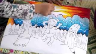 getlinkyoutube.com-Lomba Mewarnai bersama Kuas Pelangi