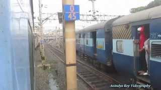 getlinkyoutube.com-Triple Parallel Action in Indian Railways : Ranchi Shatabdi,Ganadevta and Dhauli Expres