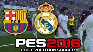 getlinkyoutube.com-Pro Evolution Soccer 2016 FC Barcelona Vs Real Madrid (1080p 60fps)