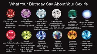What Your Birthstone Says About Your Sexlife