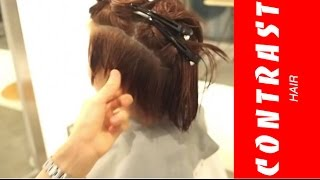 getlinkyoutube.com-ばっさり ボブ 誰にでも簡単に切れるツーブロック 動くヘアカタログ JIKKO YAMADA 渋谷 美容室 美容院 CONTRAST HAIR 山田実行