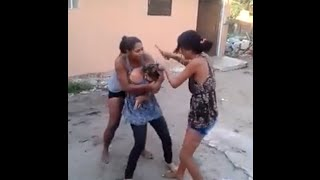 RE: Sidepiece gets jumped and has her hair cut off by angry wife and her sister!!