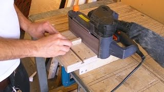 getlinkyoutube.com-Mini Edge Sander - Belt Sander Stand / Clamp