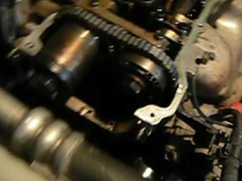 Замена цепи грм Nissan Wingroad (коротко несколько моментов)