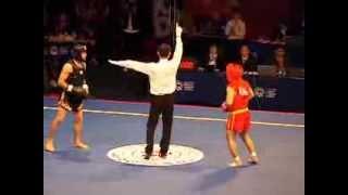 getlinkyoutube.com-Всемирные игры боевых искусств. Ушу Саньда / Wushu Sanda. Men. 60 kg. Russia vs Iran