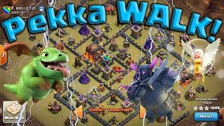 getlinkyoutube.com-TH9 PEKKA WALK w/ Baby Drags! New 3 Star War Attacks Clash of Clans