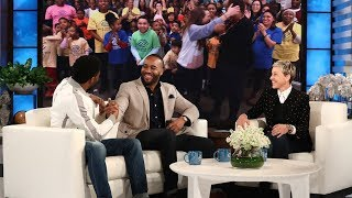 Chadwick Boseman and Ellen Surprise 'Black Panther' Fundraiser Frederick Joseph