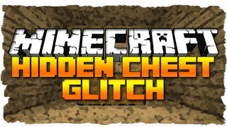 Minecraft: HIDDEN CHEST GLITCH! (MC Tutorial)