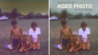 getlinkyoutube.com-How to Fix an Aged Photo in Photoshop