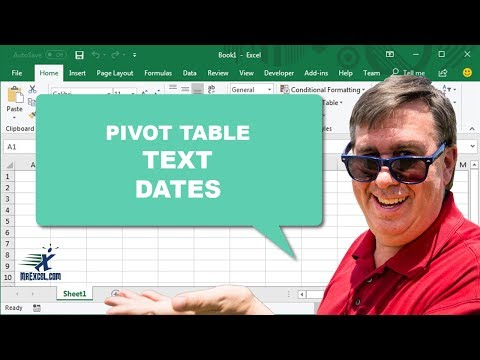 "Learn Excel 2013 - ""Sort Pivot Table Text Dates"": Podcast #1679"