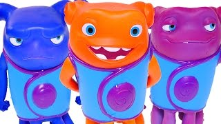 getlinkyoutube.com-HOME Color Changers DreamWorks Oh Figurines & HUGE Play Doh Cat Pig Surprise Egg Toys by DCTC