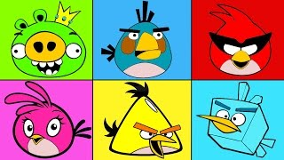 getlinkyoutube.com-Angry Birds Coloring Mix for Children - Coloring for Kids Angry Birds