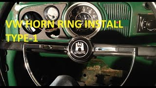 getlinkyoutube.com-Vw Aircooled Horn Ring Install