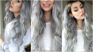 getlinkyoutube.com-How to: Dark Grey/Silver & Black Roots | Evelina Forsell