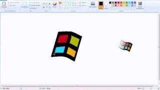 getlinkyoutube.com-Windows logo speedpaint on ms paint