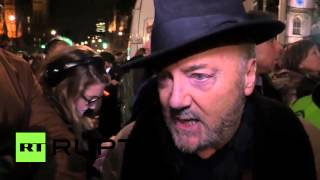 UK: George Galloway joins thousand-strong anti-war demo ahead of Syria vote