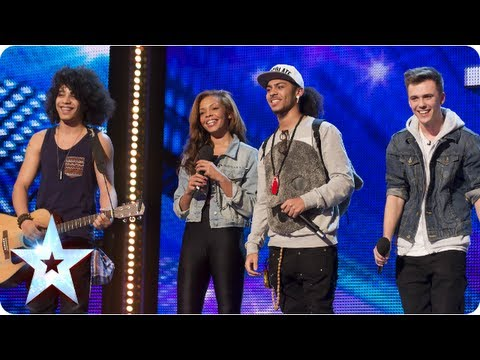 Luminites the now ex buskers sing 'Hurts So Good' - Week 3 Auditions |  Britain's Got Talent 2013