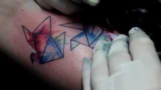 getlinkyoutube.com-Watercolor Tattoo - Studio Pedro Neves Tattoo