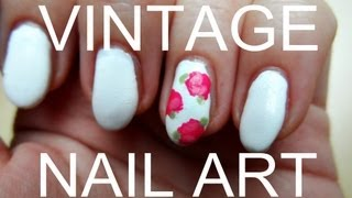 getlinkyoutube.com-VINTAGE NAILART - ROSEN (TUTORIAL)