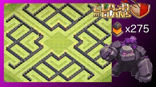 "getlinkyoutube.com-TH10 Farm Base ""The Claw"" (Post-Update - 275 Walls) - Clash Of Clans"