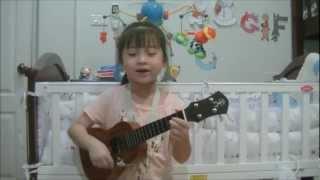 getlinkyoutube.com-Love Paradise Ukulele Cover by Gail Sophicha 6 Years Old.