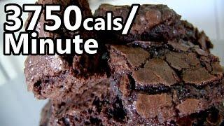 25 Double-Fudge Brownies Eaten in 1 Minute! width=