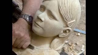 """getlinkyoutube.com-Wood carving Granddaughter """"Jane"""""""
