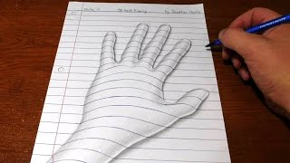getlinkyoutube.com-How to Draw a 3D Hand - Trick Art Optical Illusion