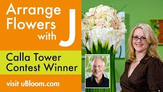 getlinkyoutube.com-How to Arrange Flowers- The Calla Lily Tower Arrangement!