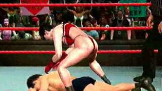 getlinkyoutube.com-SvR2009 CAW Naomi vs Gohwave