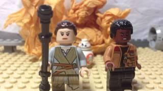 getlinkyoutube.com-Lego Star Wars The Force Awakens Trailer 2 stop motion animation shot for shot recreation