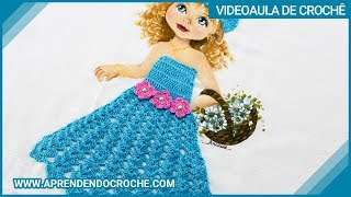 getlinkyoutube.com-Vestido de Croche p/ Aplicação - Boneca Patricia - Aprendendo Crochê