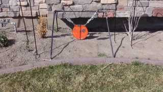getlinkyoutube.com-DIY Collapsible Steel Target Stand For Your Gong