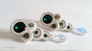"getlinkyoutube.com-Tutorial soutache  . Orecchini ""Tears"" DIY"