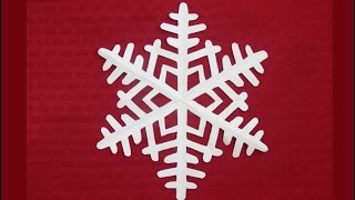 getlinkyoutube.com-Paper snowflake 1 - Detailed tutorial - Beginner level - Can YOU do it?