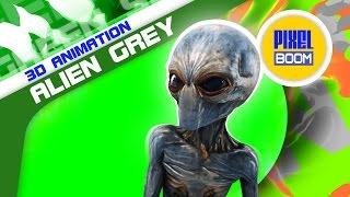 getlinkyoutube.com-Green Screen Alien Grey Walk Die Xfiles - Footage PixelBoom