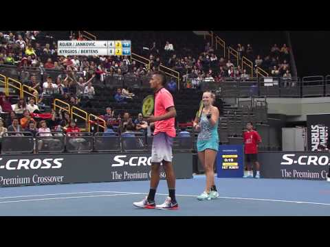 Kyrgios  - Point of the Match - IPTL 2016: Japan Warriors vs Singapore Slammers