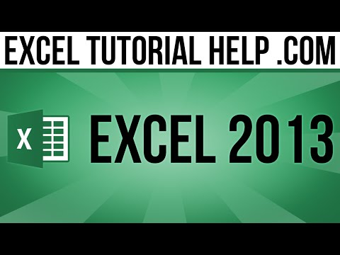 Excel 2013 Tutorial - Number Formatting
