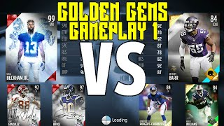 Best Team Ever!!! | Golden Gems Vs Super Team Game 1 | Madden 16 Ultimate Team Live Comm Gameplay