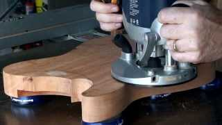 getlinkyoutube.com-Part 3 - Bandsawing & Routing A Guitar Body (Telecaster)