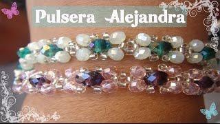 getlinkyoutube.com-Bisuteria Pulsera Alejandra.              ((#6))