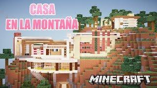 getlinkyoutube.com-MINECRAFT: LA CASA DE LA MONTAÑA | CASAS DE SUSCRIPTORES