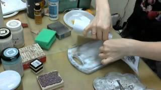 getlinkyoutube.com-Декупаж кухонной доски: видео мастер-класс Натальи Жуковой. Протравливание, трансфер распечатки.