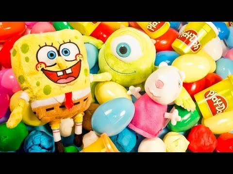 Surprise Eggs Play Doh Huevo Kinder Sorpresa unboxing easter egg by Unboxingsurpriseegg